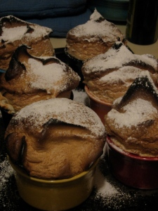 picture of hot maple souffles