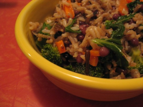 Wild Rice, Adzuki Bean and Veggie Salad