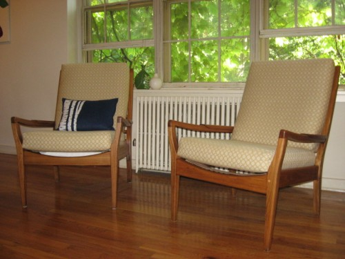 refinished Danish modern chairs