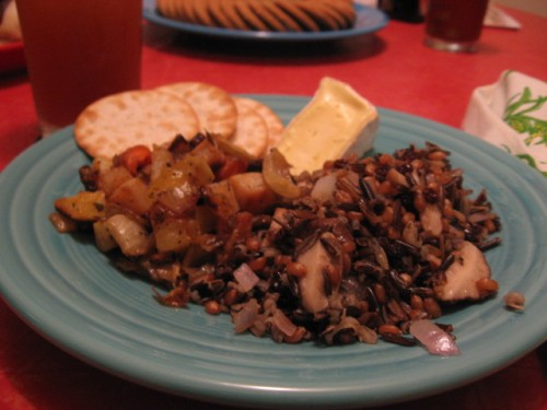 wild rice and wheatberries