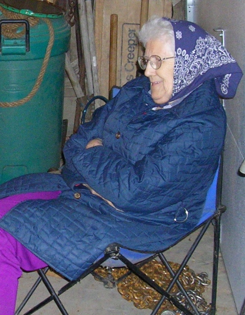 Grandma watching the sap