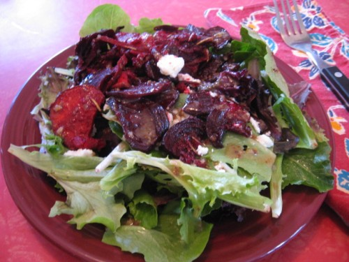 Salad with Maple Pecan Salad Dressing