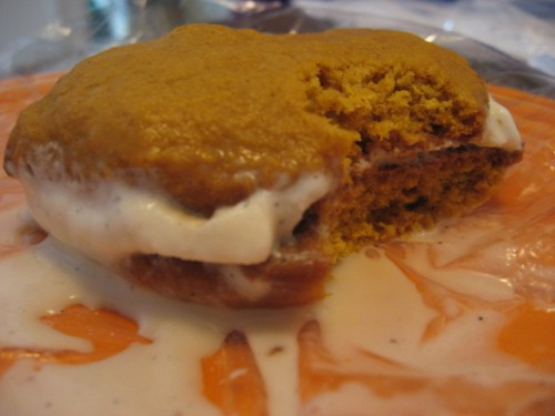Pumpkin and Maple Ice Cream Sandwiches