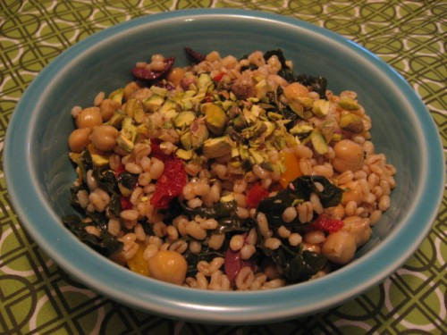 Barley and Chickpea Salad
