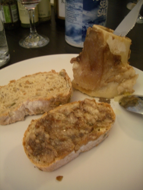 Marrow on bread